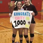 Rangers defeat Isle 3-2, Gutzman tallies 1000th dig