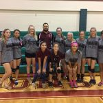 Lockhart Girls 8th Grade Volleyball A beat Manor High School 2-0