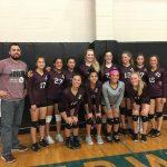 Lockhart Girls 8th Grade Volleyball A beat Dailey 2-0