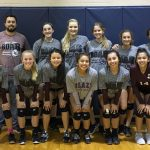 Lockhart Girls 8th Grade Volleyball A beat Cedar Creek High School 2-1