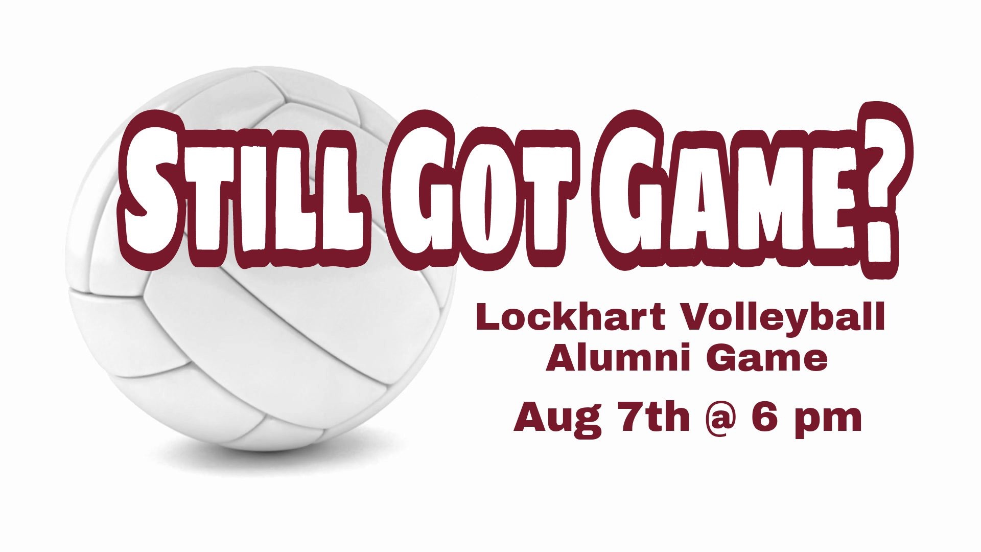 Volleyball Alumni Game
