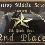 Boys Middle School Cross Country finishes 2nd place at Bastrop ISD Cross Country Meet