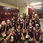 Girls 7th Grade Volleyball B beats Del Valle