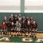 Girls 8th Grade Volleyball A beats Ojeda