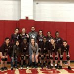 Girls 8th Grade Volleyball A beats Manor New Tech