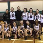 Girls 8th Grade Basketball A beats Ojeda 25 – 15