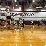 Lady Lions Open Up District with a Sweep