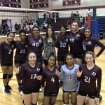 Girls 8th Grade Volleyball A beats Ojeda 2 – 0