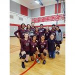 Girls 8th Grade Volleyball A beats Manor 2 – 0