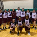 Girls 8th Grade Basketball A beats Bastrop 27 – 22