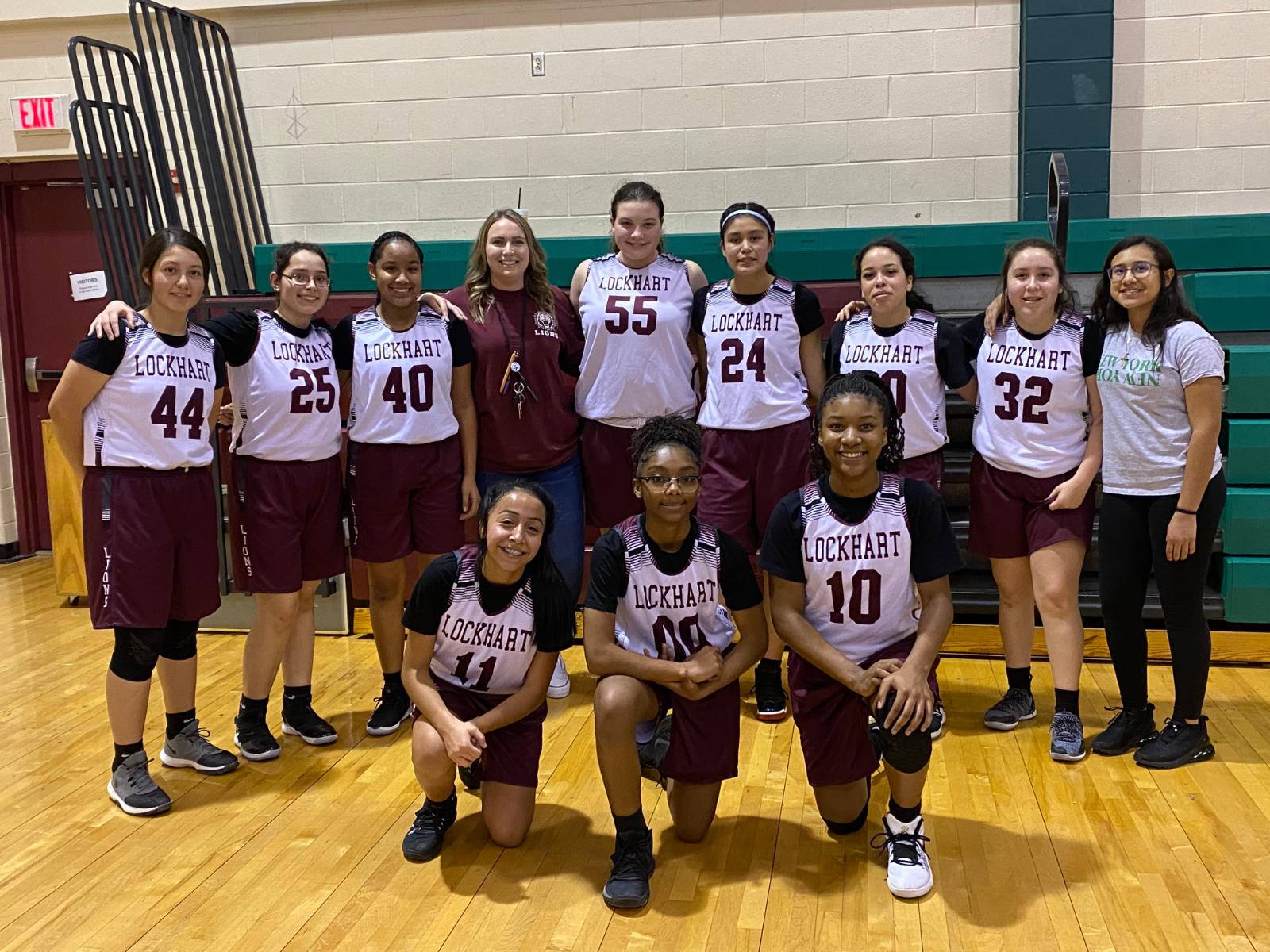 Girls 8th Grade Basketball A beats Bastrop 27 – 22