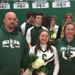 Senior Night Cheerleaders and Boys' basketball