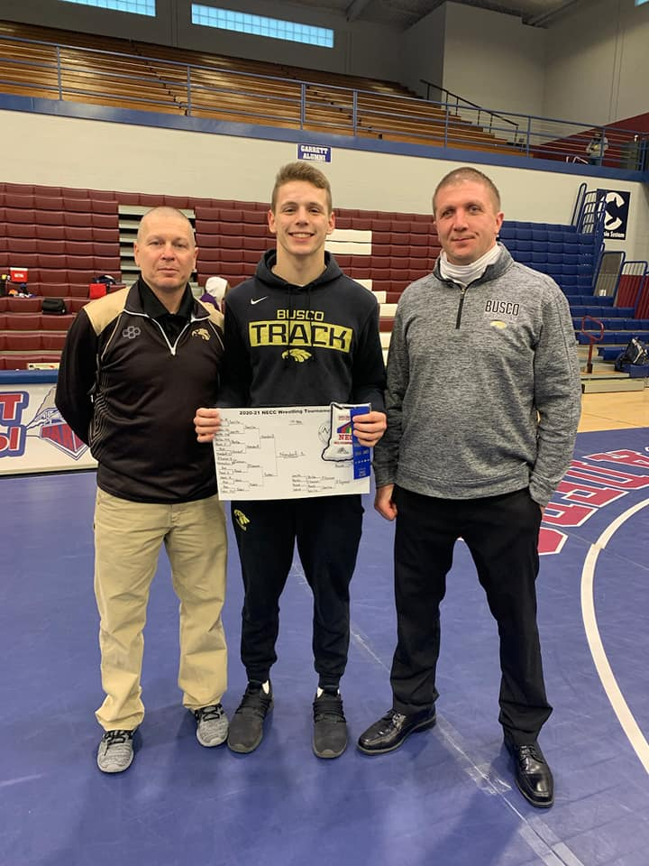 Nondorf Places 1st at NECC Wrestling