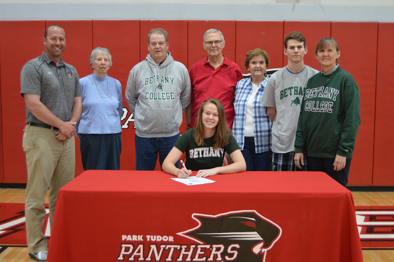 Jennifer Oberthur and Family with Coach Courtney Whitehead