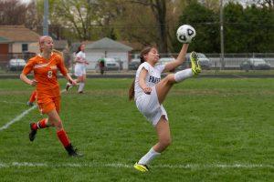 RU Girls Soccer versus Belleville