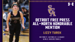 Detroit Free Press ALL-NORTH Honorable Mention- Lizzy Turek