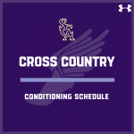 Cross Country Conditioning Schedule Week