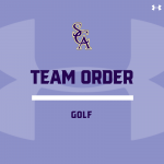 Golf Team Order- 2020 Fall Season