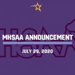 MHSAA Announcement- July 29, 2020