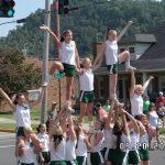 Cheerleaders Give Back at Arts and Eats Festival