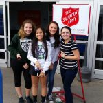 Lady Vikings Soccer Rings the Bell for Salvation Army 12-12-15