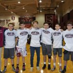 Wrestling Seniors Honored At Canfield Match