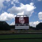35 Foot Video Board/Scoreboard Raised At Stadium
