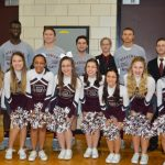 Senior Boys Basketball Players, Managers, and Cheerleaders Honored At Game