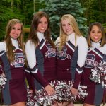 Senior Cheerleaders Honored At Last Home Football Game