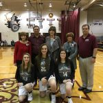 Girls Varsity Basketball Seniors Honored At Last Home Game