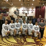 Boys Varsity Basketball Seniors Honored At Last Home Game