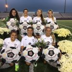 Girls Senior Soccer Players Honored At Last Home Game With Badger