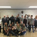 School Send-Off For Girls And Boys Indoor Track Team Members Headed To The State Meet