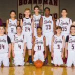 2017-18 Glenwood Boys 8th Grade Basketball Team White Pictures