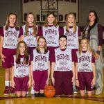 2017-18 Glenwood Girls 7th Grade Basketball Team White Pictures
