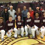 Senior Boys Basketball Players Have Teacher Appreciation Night At Game