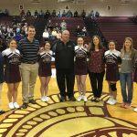 Senior Cheerleaders Honor Their Favorite Teacher At Last Home Game Of The Season