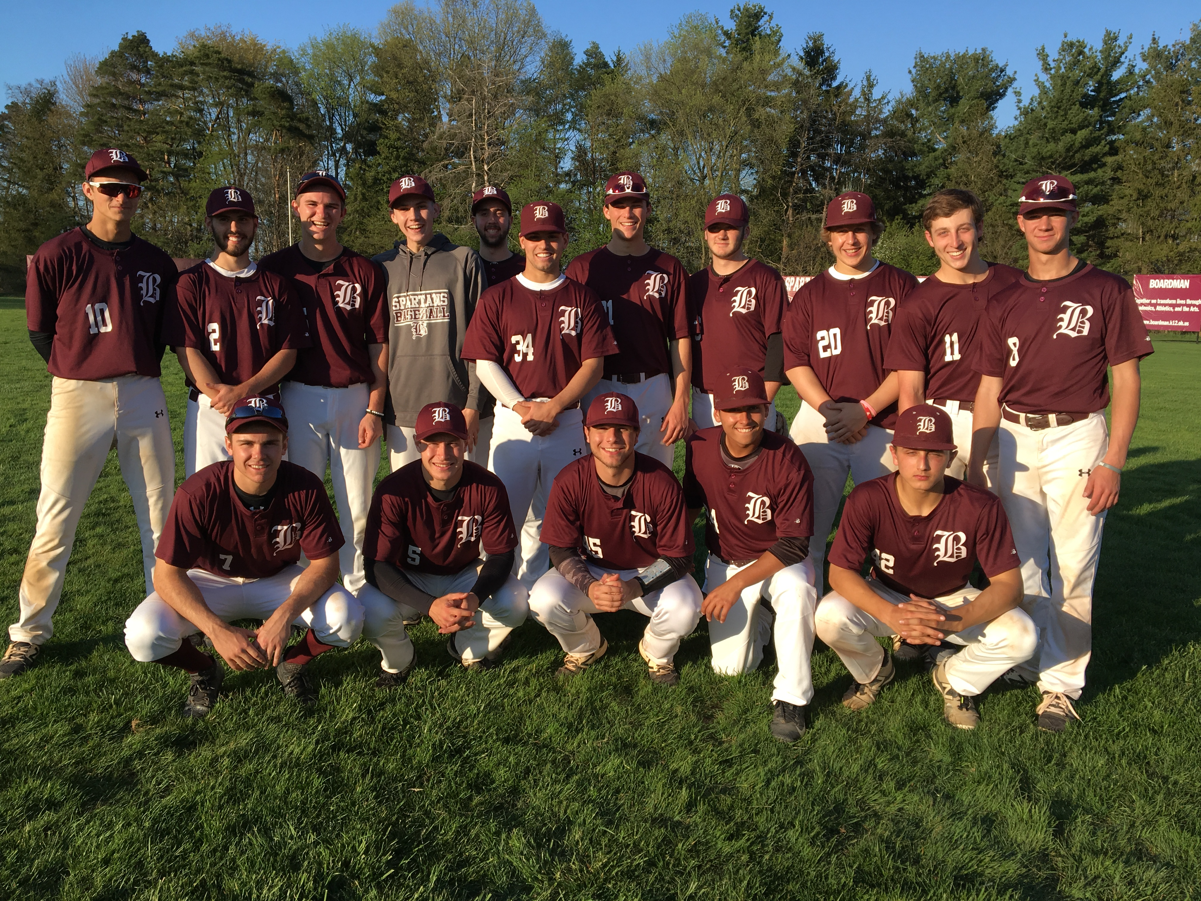 Boys Varsity Baseball Team Earns A Share Of The AAC Red Tier Championship By Defeating Poland In The Last Game of The Year
