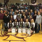 Four Senior Basketball Players And Five Senior Cheerleaders Honored At Last Home Game Of The Season Against Canfield
