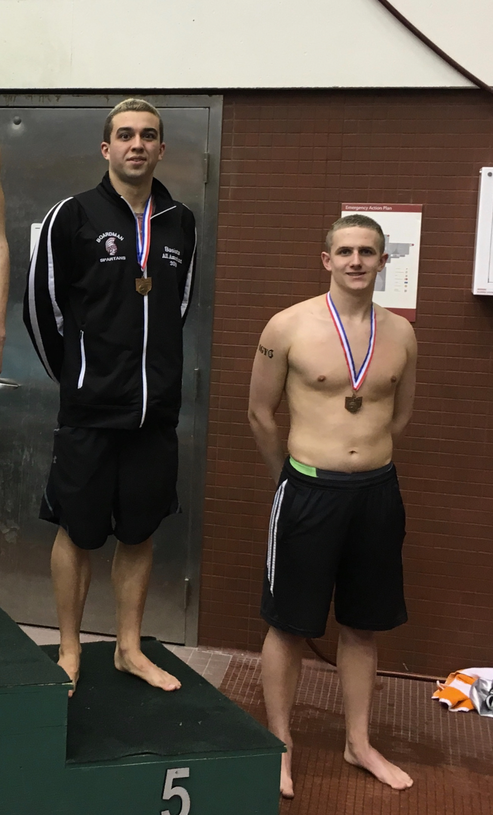 Swimmers Noah Basista and Matt DunLany Qualify To The OHSAA State Swim And Dive State Championships In Individual Events