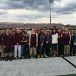 Nine Senior Boys Track Members Honored Before Canfield Meet, Spartans Defeat The Cardinals To Remain Undefeated