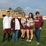 Two Senior Girls Lacrosse Players Honored Before Cardinal Mooney Game