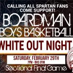 "Boardman Boys Basketball ""White Out Night"""