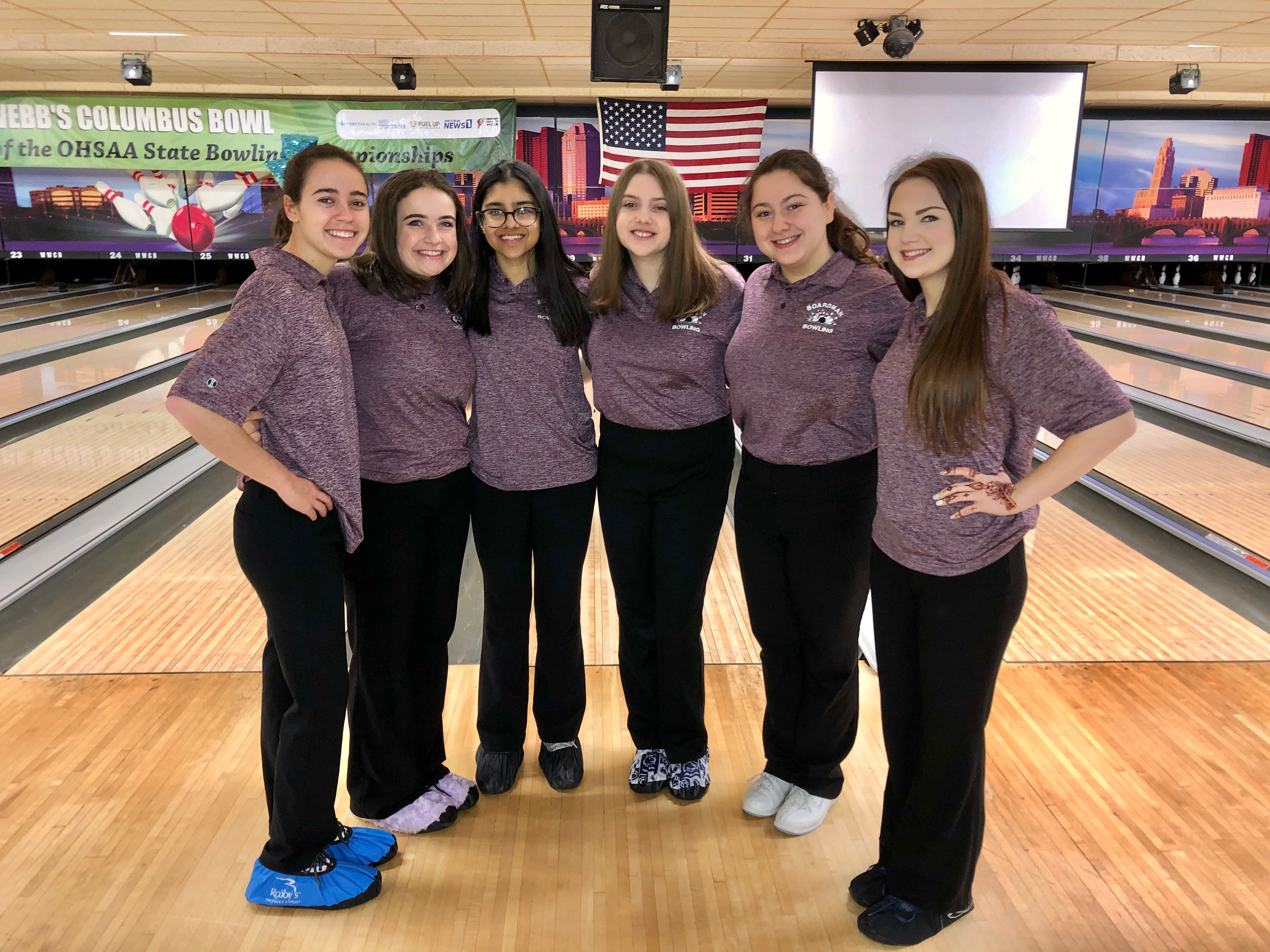 Boardman High School Girls Varsity Bowling finishes 10th place at State Bowling Championship