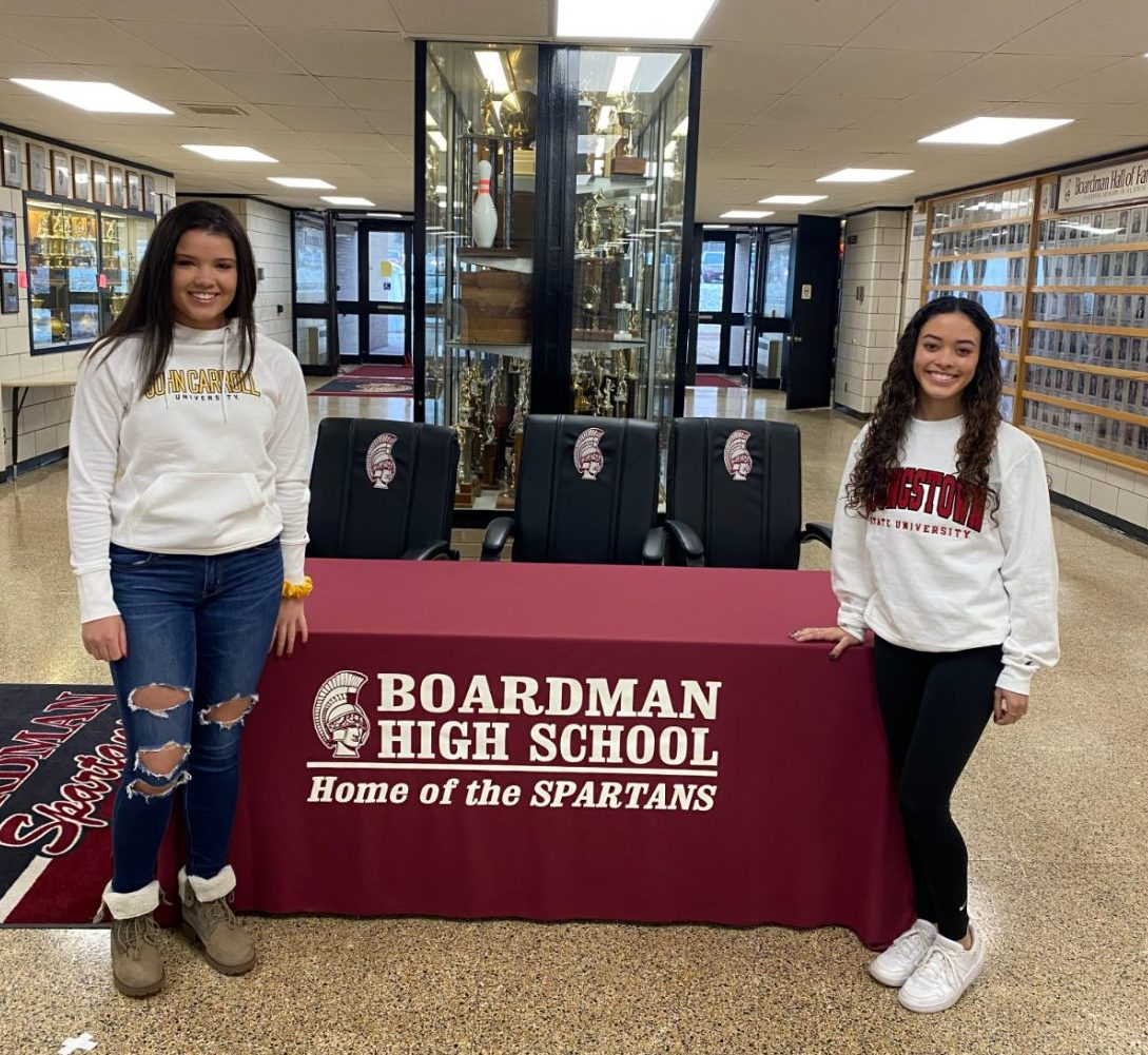 College Signings for Alayna Cuevas and Nina Scavelli
