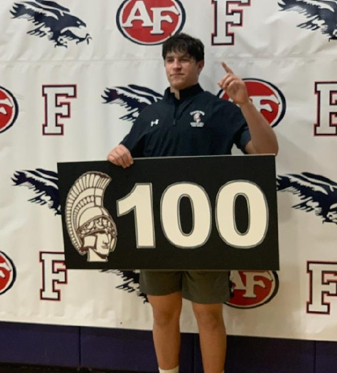 Powell gets 100th Wrestling Win