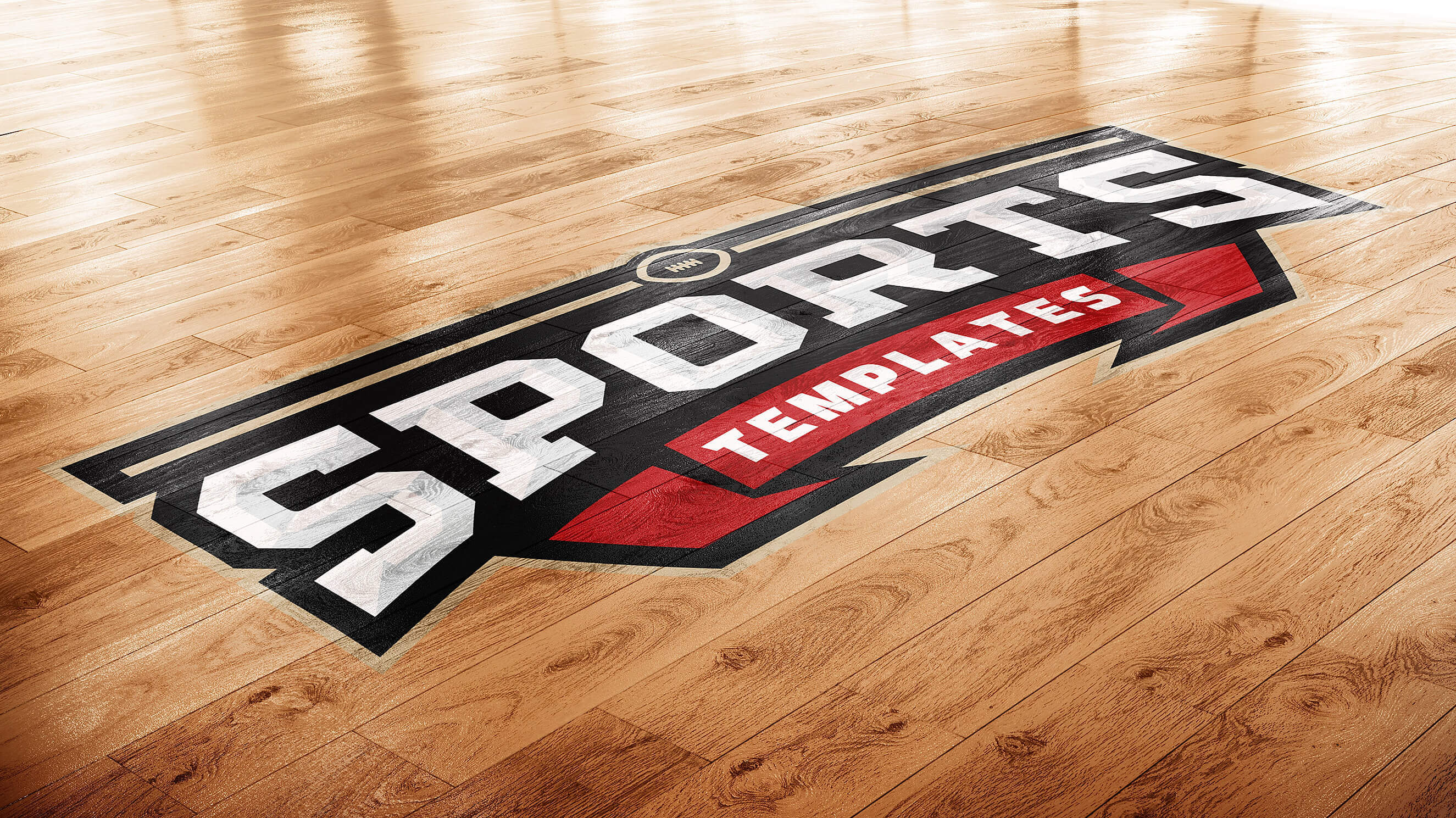 basketball court photoshop logo mockup sports templates