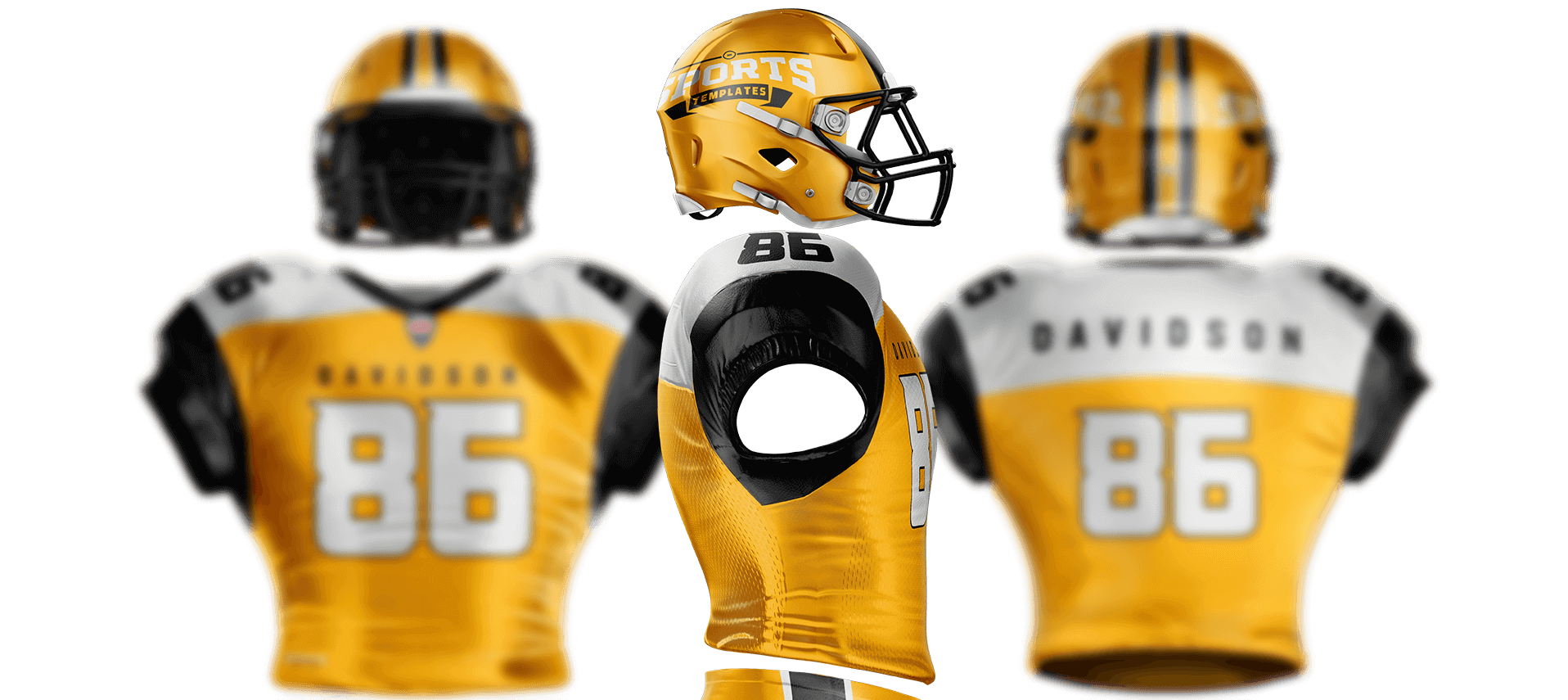 touchdown football uniform template sports templates