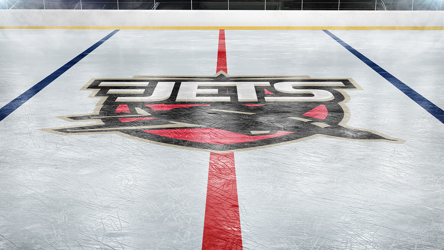 ice hockey rink photoshop logo mockup sports templates