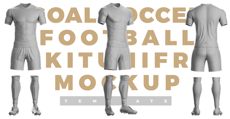 goal soccer football kit template free download